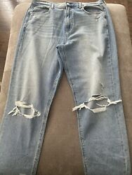 American Eagle Mom Jeans Women#x27;s size 14 Long High Rise