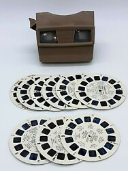 Vintage Sawyer View Master With 9 Reels Brown Vacationlands $26.95