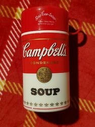 Vintage Campbell Soup Can Tainer Insulated Hot Food Thermos Container 1998 $10.99