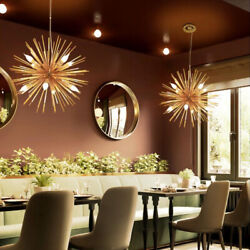 Modern E14 Gold Sputnik Lamp Chandelier 12 Light Pendant Lamp Ceiling Fixtures $139.49