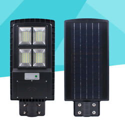 Commercial LED Solar Street Light Motion Sensor PIR Motion Dusk to Dawn OUTDOOR