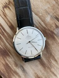 Men's Omega Seamaster De Ville Turler Automatic Vintage Watch Silver Dial #53a $615.00