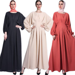 Arab Robe Women Muslim Maxi Dress Abaya Dubai Kaftan Jilbab Party Gown Ramadan $45.95