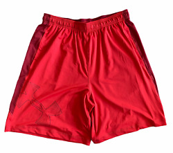 Under Armour Mens Short UA Side Graphic Shorts Red New GBP 14.99