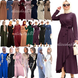 Dubai Abaya Muslim Women Kaftan Maxi Dress Arab Robe Jilbab Cocktail Party Gown $40.95