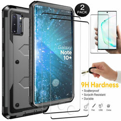 Shockproof Case For Samsung Galaxy Note 10 Plus Cover With Screen Protectors $7.99