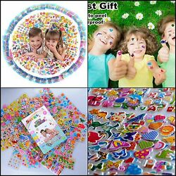 Kids Stickers 1000 40 Different Sheets 3D Puffy Stickers for Kids $11.08