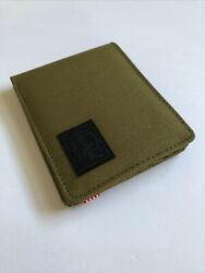 New Herschel Supply Designer Men#x27;s Roy Street Style Logo Bi Fold Wallet RFID