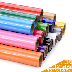 HTV Heat Transfer Vinyl for T Shirts 12quot; by the Yard Rolls for All Cutter Cricut $22.99