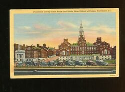 Postcard Providence County Court House And Rhode Island School Of Design RI $3.75