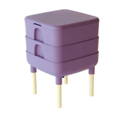The Essential Living Composter 6 Gal. Worm Composter In Color Plum $108.99