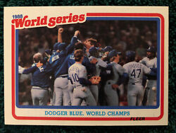 1989 Fleer Baseball #12 of 12 1988 World Series Champions LA Dodgers NEW $1.79