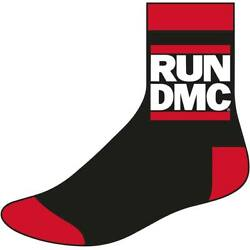 Run DMC Men#x27;s Logo Size 8 12 Socks One Size Black $16.29