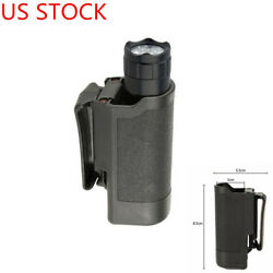 US Tactical Quick Draw Flashlight Holster Holder for MOLLE Waist Carry Case $8.79