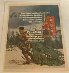 1971 Grande Canadian Whisky Christmas Tree Snowshoes Vintage Magazine Print Ad $9.99
