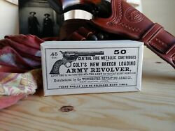 Reproduction vintage early Winchester .45 Colt Cartridge Box $14.95