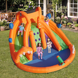 Kinbor Inflatable Bounce Castle Play Area w Water Slide Climbing Wall for Kids $404.99