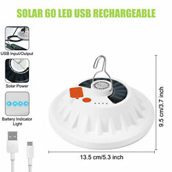 Solar USB Camping Lamp Remote Control LED Tent Light Bulb Rechargeable Lantern $13.92