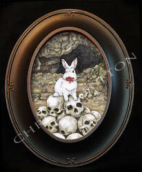 Killer Rabbit Monty Python Framed Art Print Artist Chris Oz Fulton Signed $35.00