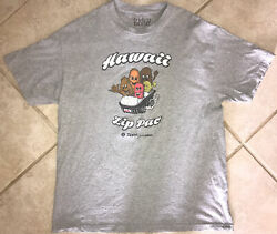 Mens IN4MATION X Zippys Hawaii T Shirt Exclusive XL Fitted Chili Gray $25.00