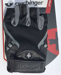 Harbinger Pro Strength Weight Lifting Gloves Leather Half Finger Palm Vents A2 $14.99