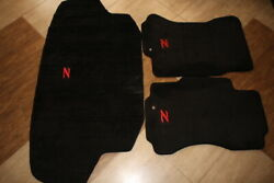 1990 99 Nissan 300ZX Floor and Trunk Mats in Black with Red Z Logo RHD Model $225.00