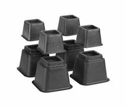 CreativeWare Adjustable Bed Riser System in Black 8 Count $29.00