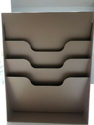 VTG Buddy Products 3 Slot Beige Metal Wall Office File Paper Organizer Vertical $34.99