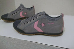 *CONVERSE ALL STAR WOMEN#x27;S SIZE 6 SUEDE LEATHER SHOES SNEAKERS GRAY TAN PINK $16.99