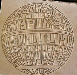 ACRYLIC Leather Embossing Stamp STAR WARS DEATH STAR for Veg Tanned Leather $29.99