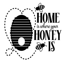 Home Is Where Your Honey Is Bee Vinyl Decal Sticker For Home Wall Decor Choice $6.29