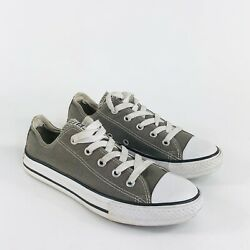 Converse Chuck Taylor All Star Kids Youth Boys Unisex Size 2 Gray Shoes Sneaker $22.97