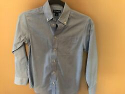 Chaps Boys Size 10 Blue Dress Shirt Button Front $14.99