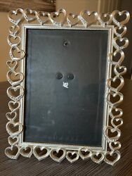 Fetco Home Decor Silver Heart Picture Frame 5x7 in. Free Shipping $14.99