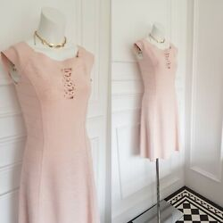 Pink Nude Morgan Designer cocktail Summer Occasion Fit Flare dress 10 12