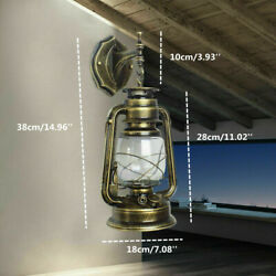 Antique Rustic Lantern Light In Outdoor Wall Fixture Sconce Porch Lamp w Bulb $25.01