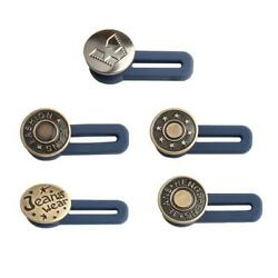 5pc Adjustable Button Free Sewing Buttons Disassembly Retractable Jeans Waist C $23.99