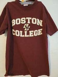 Men's Maroon Large Boston College Champion T Shirt