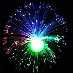 Color Changing LED Fiber Optic Night Light Lamp Stand Home Room Decor Colorful * $9.89