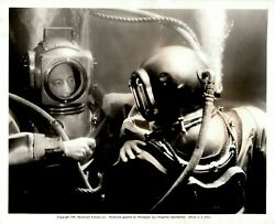 Underwater with Cecil B. DeMille w Ray Milland making quot;Reap the Wild Windquot; 1942 $75.00