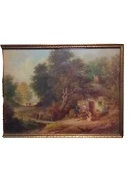 Vintage framed art print circa 1960#x27;s of a signed painting by William Payne. $30.00
