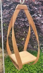 Vintage Bent Wood Tear Drop Hanging Shelf Plant Holder Mid Century Modern 25quot; $149.95