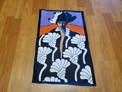 Awesome RARE Vintage Mid Century retro 60s 70s psychedelic vampire man fabric $20.00