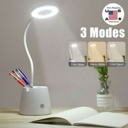 LED Desk Light Table Bedside Reading Lamp Dimmable Rechargeable Touch Control $13.39