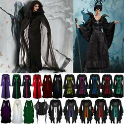 Womens Ladies Renaissance Gothic Costume Cosplay Witch Death Fancy Party Dress $18.04