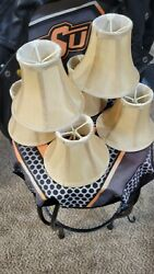 VINTAGE chandelier shades perfect condition set of 6 $60.00