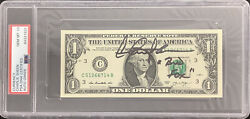 Charlie Sheen Signed Currency $1 Dollar Wall St Bud Fox Insc PSA DNA Auto Gem 10 $229.99