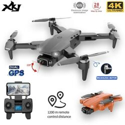 Drone 4K quadcopter brushless motor GPS 1200m dual HD camera professional $216.32