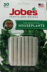 2 JOBES Fertilizer Spikes For Houseplants *NEW Feed At The Roots Packs Of 30 $9.99