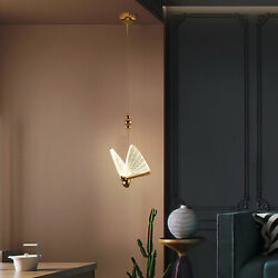 Nordic Butterfly Pendant LED Lamp Luxury Chandelier for Living Room Decoration $87.00